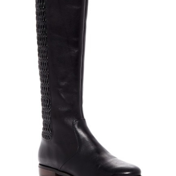 6469abd6454ce Cole Haan  Elverton  Knee High Boot Black Leather